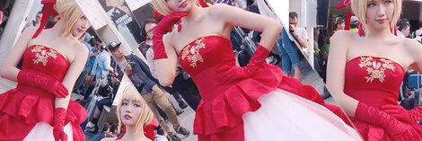 きれいなワンピース  ハロウィンのコスプレ 王女のように美しい
