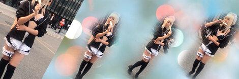 コスプレ  メイド服 セクシーなコスプレ衣装  レディース カチューシャ ブラジャー ミニスカート