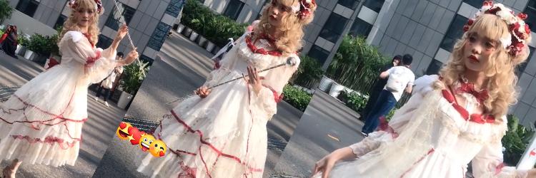 ロリータ コスプレ衣装 白いロリータ かわいい エレガントな ワンピース ヘッドバンド ハイソックス 装備