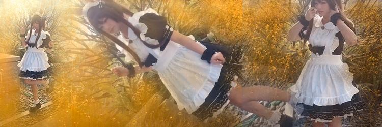 メイド服 コスプレ衣装 可愛いロリータ風のメイド服 ウサギのカチューシャ 手首飾り ワンピース エプロン 靴