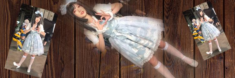 青いのロリータ コスプレ衣装 可愛い ハイソックス 文化祭 舞踏会 演奏会 部活どなのイベントで使用される