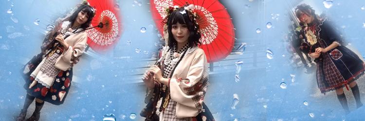 ロリータ コスプレ衣装 かわいい日本式のロリータ服 イストッキング ヘアバンド