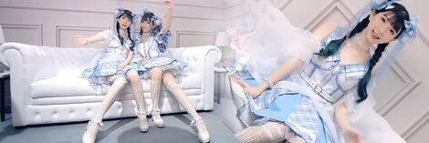 ロリータcosplay 美しい ブルーストライプドレス コスプレ衣装