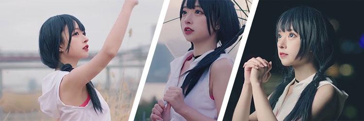 cosplay 天気の子 天野 陽菜 アニメ 実用的な エレガント 若い コスプレ衣装