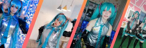 cospalay 初音 ミク  Hatsune Miku 人気 ドレス コスプレ衣装 セット