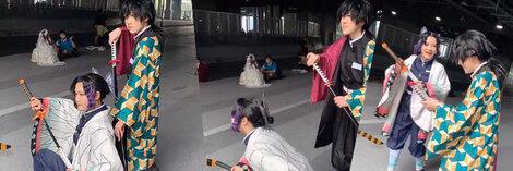 『鬼滅の刃』冨岡 義勇(とみおか ぎゆう)剣士 隊服 コスプレ衣装 セット
