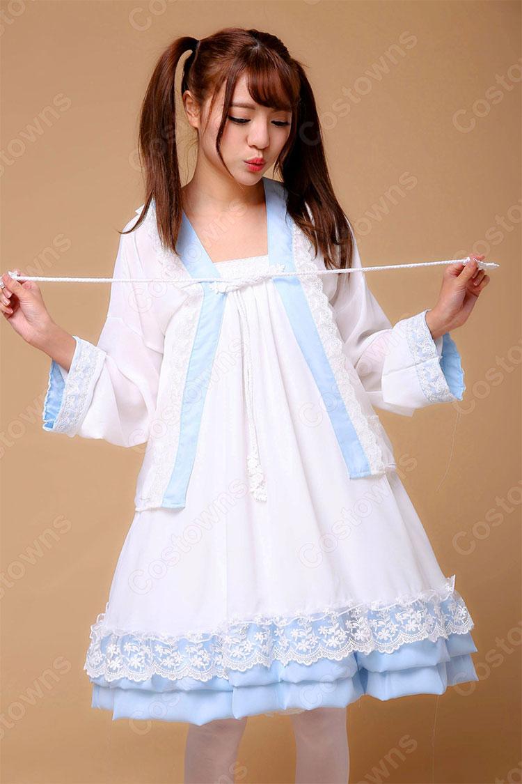 漢服 コスプレ衣装 可愛い 清楚 中華風ドレス 学園祭 文化祭 日常着