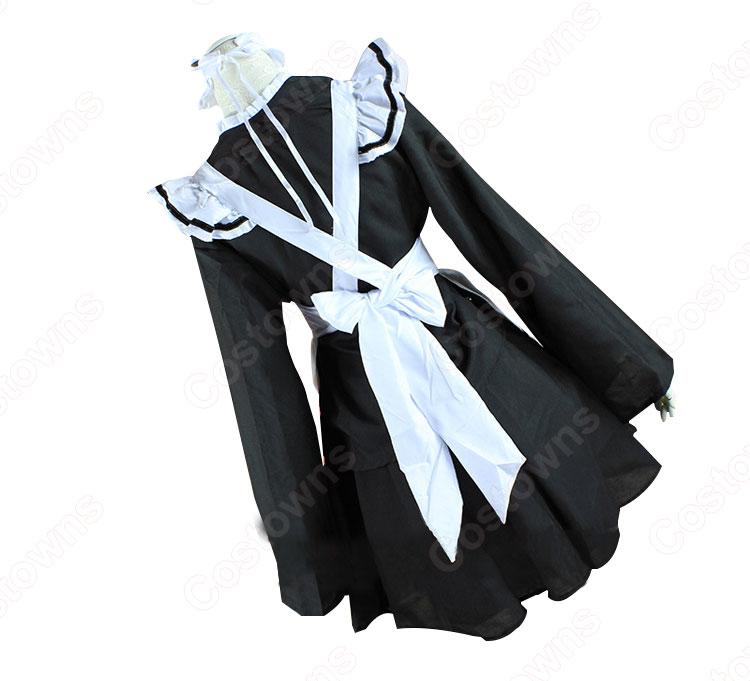 メイド服 コスプレ衣装 和風メイド衣装 ハロウィン 文化祭 体育祭 改良メイド服 1