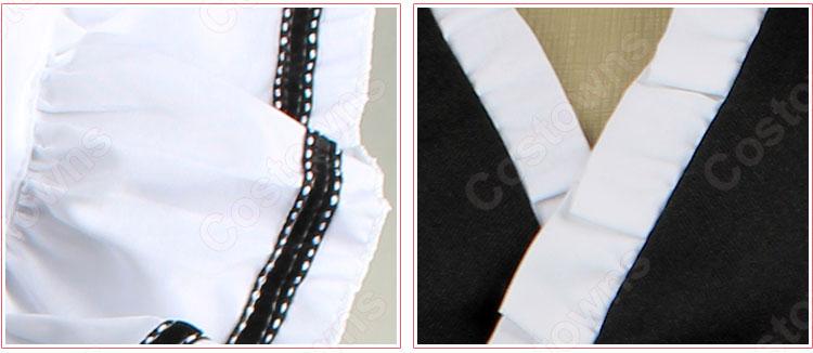 メイド服 コスプレ衣装 和風メイド衣装 ハロウィン 文化祭 体育祭 改良メイド服 3