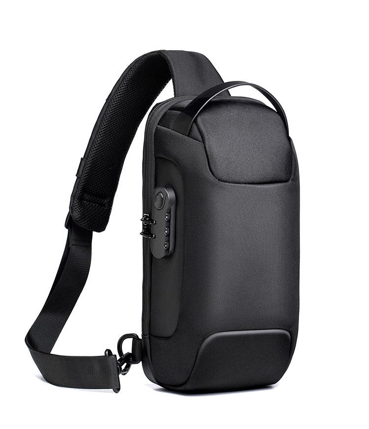 Whatna ボディバッグ メンズ 3way 斜め掛け 手提げ バッグ ショルダーバッグ 大容量 防水 USBポート付き ワンショルダー 軽量