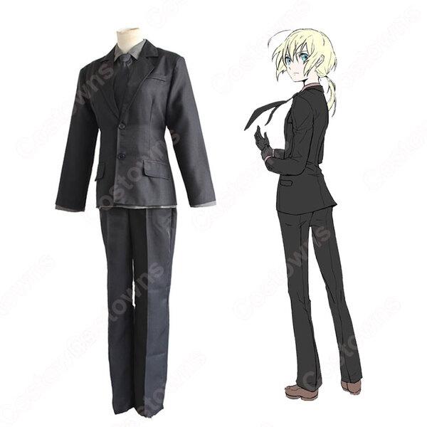 アルトリア・ペンドラゴン コスプレ衣装 【Fate/Zero】cosplay zeroセイバー 黒スーツ元の画像