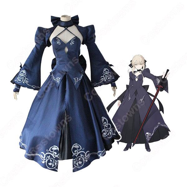 アルトリア・ペンドラゴン〔オルタ〕 コスプレ衣装 【Fate/Stay night】cosplay 黒セイバー/セイバーオルタ ドレス元の画像