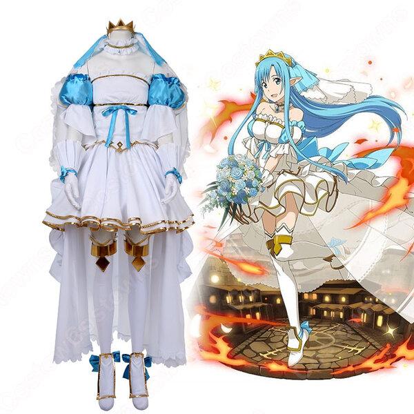 結城明日奈 コスプレ衣装 【ソードアート・オンライン】cosplay SAO ウエディングドレス COT-A00050 オーダメイド可元の画像