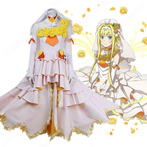 アリス・ツーベルク コスプレ衣装 【ソードアート・オンライン】cosplay Eternal LOVE -夢見る花嫁- ドレス オーダメイド可元の画像