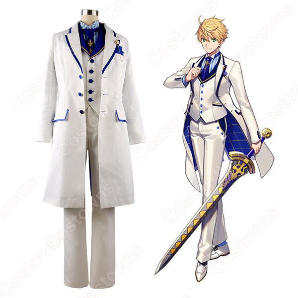 アーサー・ペンドラゴン コスプレ衣装 【Fate/Grand Order】cosplay カルデアボーイズコレクション2018 ホワイトローズ オーダメイド可元の画像