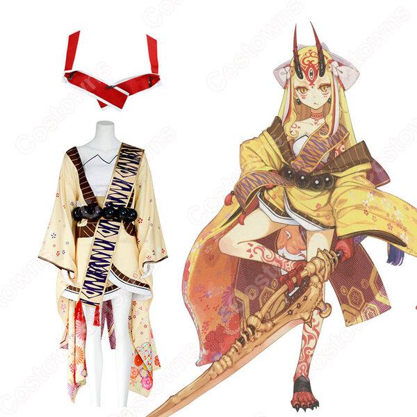 茨木童子 コスプレ衣装 【Fate/Grand Order】cosplay 戦闘服 オーダメイド可元の画像