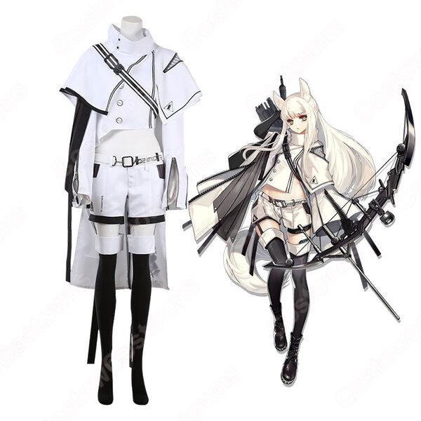 プラチナ コスプレ衣装 【アークナイツ】 cosplay 白金 Platinum 戦闘服 オーダメイド可元の画像
