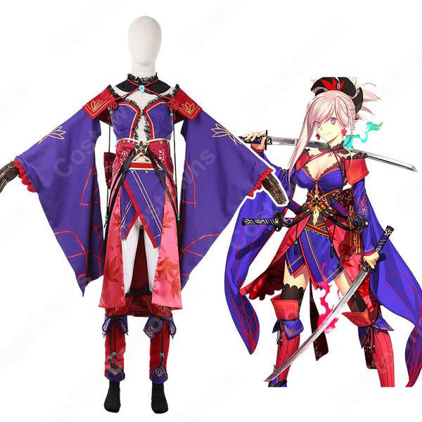 宮本武蔵 コスプレ衣装【Fate/Gand Order】cosplay 臨基再臨 第三段階 戦闘服 オーダメイド可元の画像