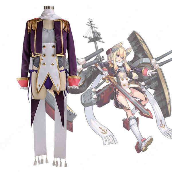 ウォースパイト コスプレ衣装 【アズールレーン】 cosplay ロイヤル 戦艦 初期衣装 オーダメイド可元の画像
