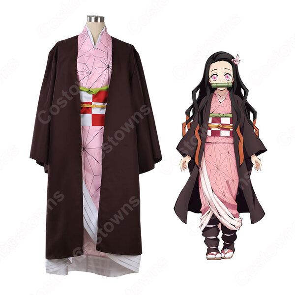竈門禰豆子 コスプレ衣装 【鬼滅の刃】 cosplay 和服 オーダメイド可元の画像