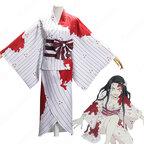 竈門禰豆子 コスプレ衣装 【鬼滅の刃】 cosplay 血染め白い着物