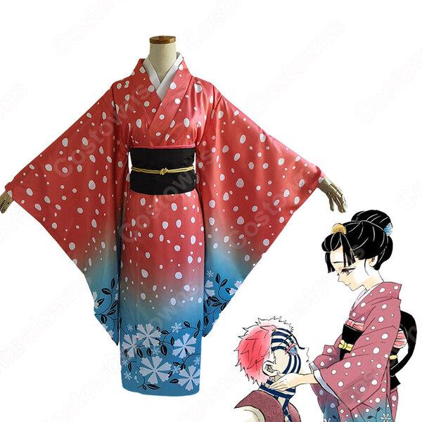 恋雪 コスプレ衣装 【鬼滅の刃】 cosplay 和服元の画像