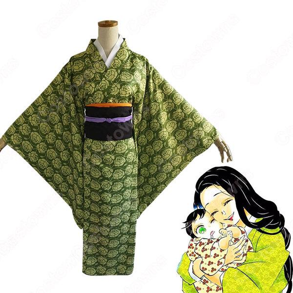 嘴平琴葉 コスプレ衣装 【鬼滅の刃】 cosplay 伊之助の母 和服元の画像