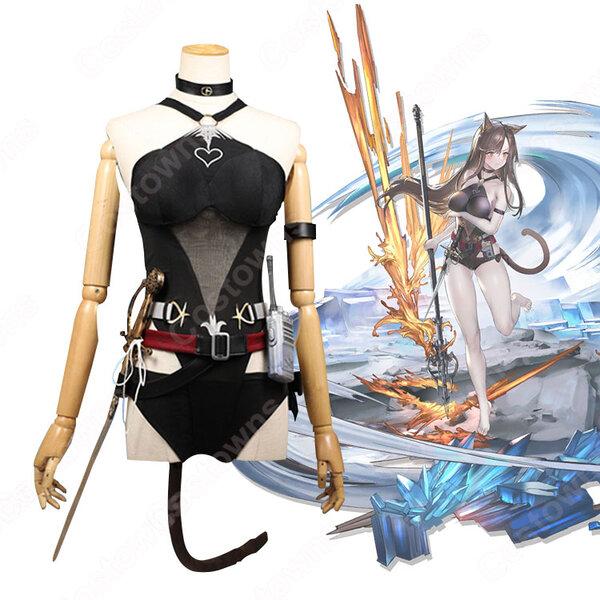 スカイフレア コスプレ衣装 【アークナイツ】 cosplay 天火 Skyfire 珊瑚海岸 温差RT.RX01 水着元の画像