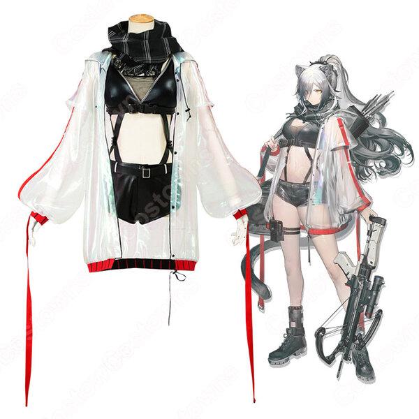 シュヴァルツ コスプレ衣装 【アークナイツ】 cosplay 黒 Schwarz 戦闘服 COT-A00258元の画像