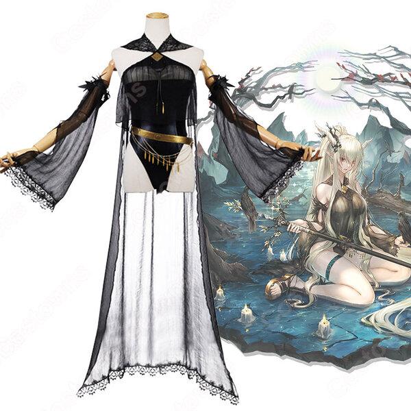 シャイニング コスプレ衣装 【アークナイツ】 cosplay 闪灵 Shining 珊瑚海岸 静谧午夜 水着元の画像