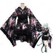 極楽浄土 コスプレ衣装 桜柄和服 ロリータ風洋服