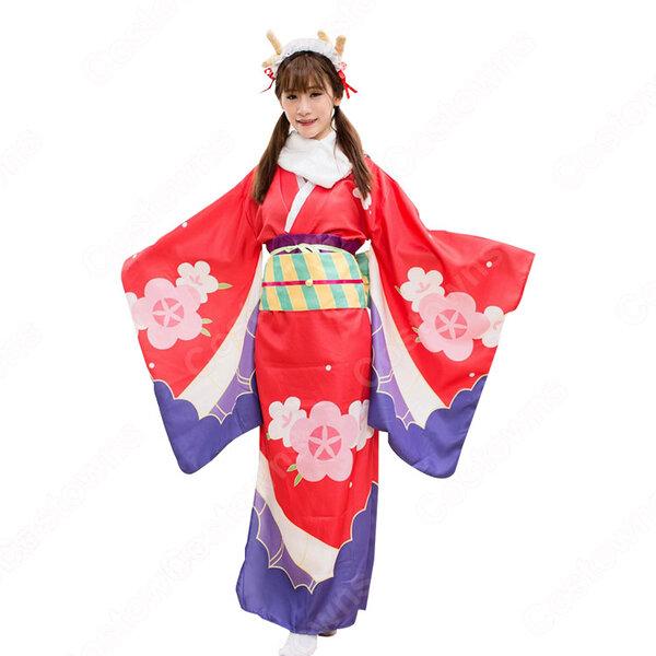 トール コスプレ衣装 【小林さんちのメイドラゴン】 新年 着物元の画像