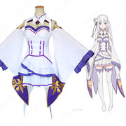 エミリア コスプレ衣装 【Re:ゼロから始める異世界生活】 cosplay リゼロ 日常服