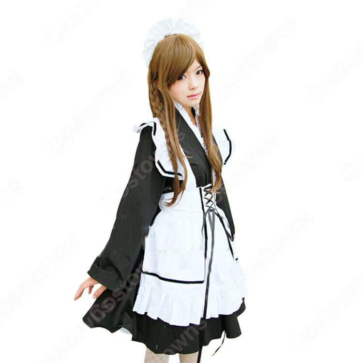 メイド服 コスプレ衣装 和風メイド衣装 ハロウィン 文化祭 体育祭 改良メイド服_2