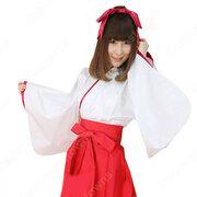 ミニ巫女 コスプレ衣装 神社 和装 ハロウィン 文化祭 体育祭 巫女服 cosplay