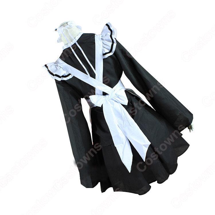 メイド服 コスプレ衣装 和風メイド衣装 ハロウィン 文化祭 体育祭 改良メイド服_1