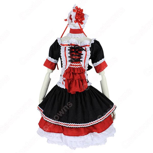 ゴスロリ コスプレ衣装 ロリータ風ワンピース ハロウィン 文化祭 体育祭 メイド衣装 cosplay元の画像