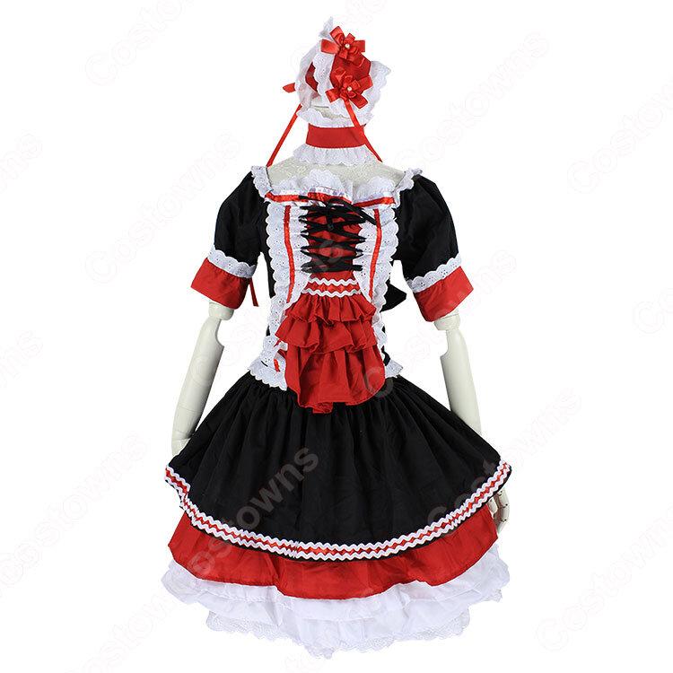 ゴスロリ コスプレ衣装 ロリータ風ワンピース ハロウィン 文化祭 体育祭 メイド衣装