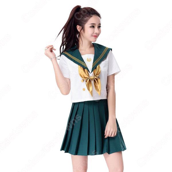 制服 コスプレ衣装 文化祭 体育祭 日本高校制服 ユニフォーム セーラー服 COT-A00344元の画像