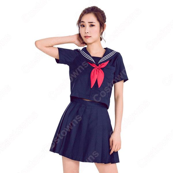 制服 コスプレ衣装 文化祭 体育祭 日本高校制服 ユニフォーム セーラー服 COT-A00342元の画像