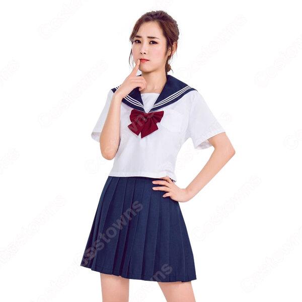 制服 コスプレ衣装 文化祭 体育祭 日本高校制服 ユニフォーム セーラー服 COT-A00347元の画像