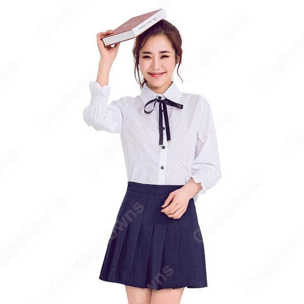 高校制服 コスプレ衣装 文化祭 体育祭 日本韓国高校制服 ユニフォーム セーラー服 COT-A00349元の画像