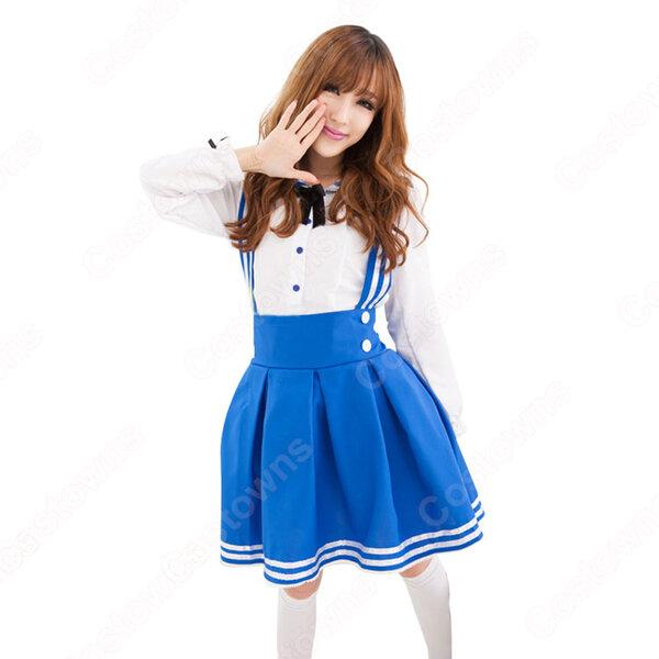 学園制服 コスプレ衣装 文化祭 体育祭 ロリータ風スカート ユニフォーム 長袖 コスチューム元の画像