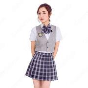 高校制服 コスプレ衣装 文化祭 体育祭 日本韓国高校制服 ユニフォーム チェック柄