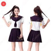 高校制服 コスプレ衣装 文化祭 体育祭 日本韓国高校制服 チアリーダ衣装 ユニフォーム セーラー服 COT-A00353