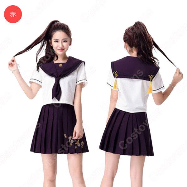 高校制服 コスプレ衣装 文化祭 体育祭 日本韓国高校制服 チアリーダ衣装 ユニフォーム セーラー服 COT-A00353元の画像