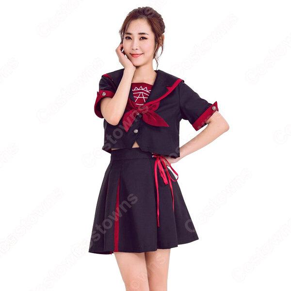 高校制服 コスプレ衣装 文化祭 体育祭 日本韓国高校制服 チアリーダ衣装 ユニフォーム セーラー服 COT-A00352元の画像