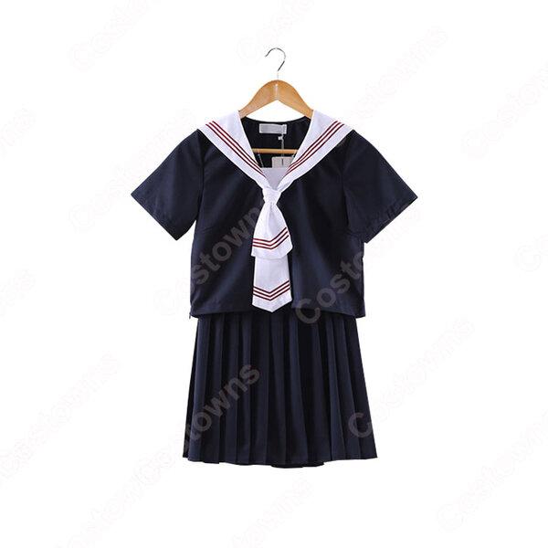 学園制服 コスプレ衣装 文化祭 体育祭 ユニフォーム コスチューム 日本風セーラー服元の画像