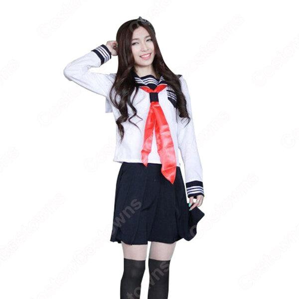 学園制服 コスプレ衣装 文化祭 体育祭 ユニフォーム コスチューム セーラー服 COT-A00395元の画像