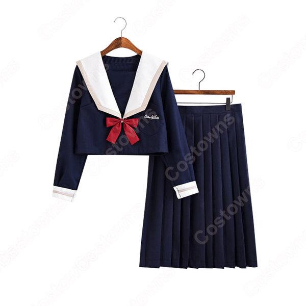 学園制服 コスプレ衣装 文化祭 体育祭 ユニフォーム コスチューム セーラー服 COT-A00407元の画像
